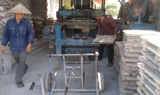 quy trình sản xuất gạch block 4