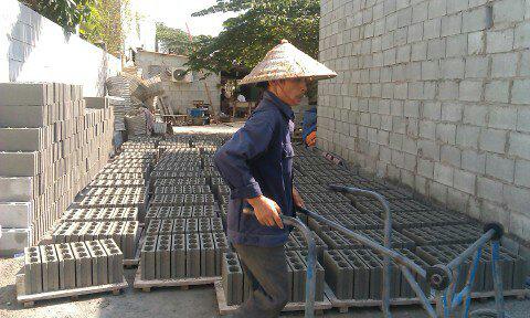 quy trình sản xuất gạch block 1